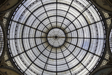 Dome of Galleria Vittorio Emanuele, Milan. Color image