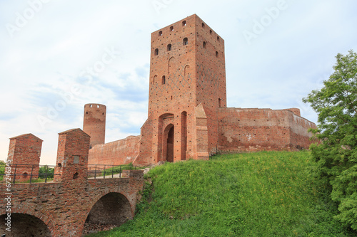 The ruins of the castle of  dukes of Mazovia, Czersk in Poland - 67246345