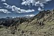 Montañas rocosas de granito
