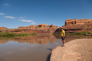 Admiring the Colorado River Moab Utah