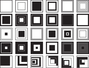 Square set illustrated on white