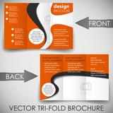Tri fold corporate business store brochure