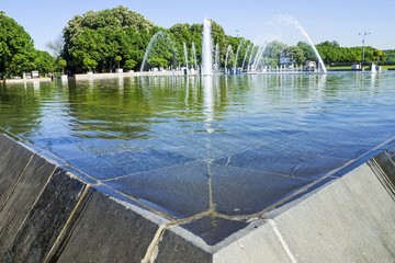 fountain in Gorky Park, Moscow, Russia