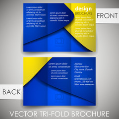 Tri fold corporate business store brochure