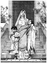 Ancient Rome : Patrician Mother & Children