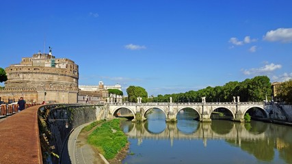 Castle and Bridge of Angels, Rome, Italy