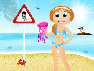 attention to jellyfish
