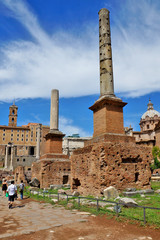 ruins of the Roman Forum, Italy