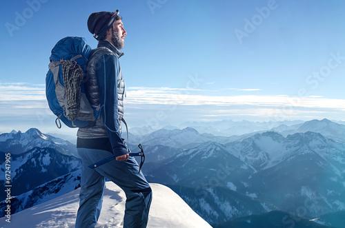 Leinwanddruck Bild Mountaineer