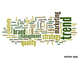 Vector conceptual business word cloud
