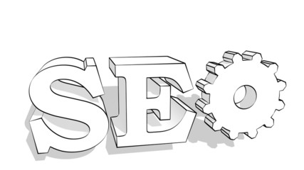 seo 3d text internet term