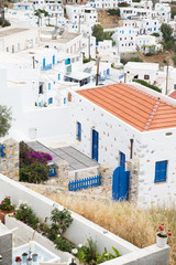 Häuser von Serifos auf den griechischen Inseln - Cyclades.