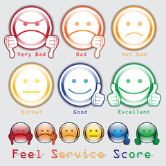 Feed Back Score. Feel Score Service