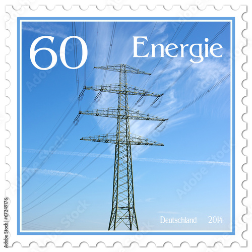 canvas print picture Energieversorgung