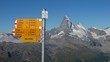 Matterhorn and signpost