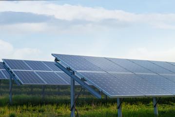 Solar power station in a field