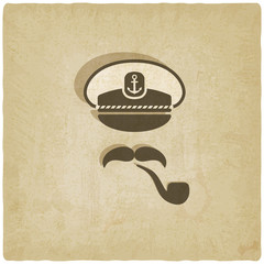 Captain mustache pipe old background