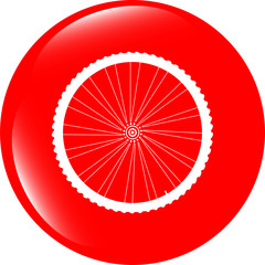 bike wheels glossy web icon button