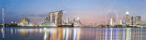 Canvas Singapore Singapore skyline