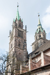 Towers of St. Lorenz Church in Nuremberg