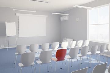 Unterricht individuell im Seminarraum