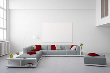 Sitzecke im Wohnzimmer im Loft