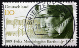 Postage stamp Germany 1997 Felix Mendelssohn Bartholdy, Composer poster