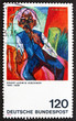 Postage stamp Germany 1974 Old Farmer, by Ernst Ludwig Kirchner