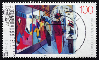Postage stamp Germany 1992 Fashion Shop, by August Macke