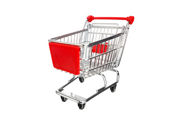 empty shopping cart, isolated on white