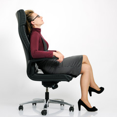 businesswoman in relax