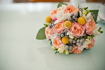 Bouquet on a table.