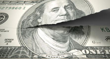 Tearing American Dollar
