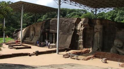 POLONNARUWA,SRI LANKA. Ancient Buddha statues