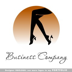 logo, foot, women,  vector, female, fashion