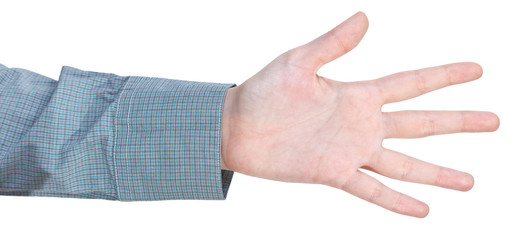 counting five - hand gesture