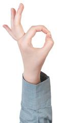okay finger symbol - hand gesture
