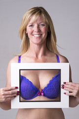 Bra and bust in a frame