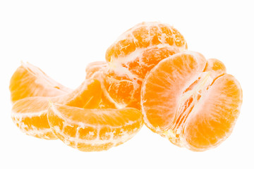Peeled Tasty Sweet Tangerine Orange Mandarin Fruit