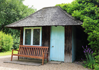 Garden Shed with Bench seat