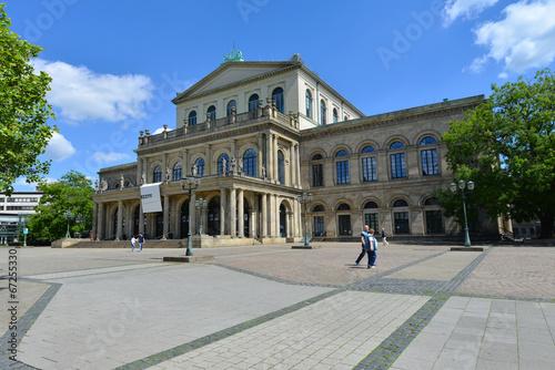 Leinwanddruck Bild Opernhaus, Kultur, Niedersächsisches Staatstheater, Hannover