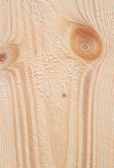 Detail of softwood boards plane after pretreatment