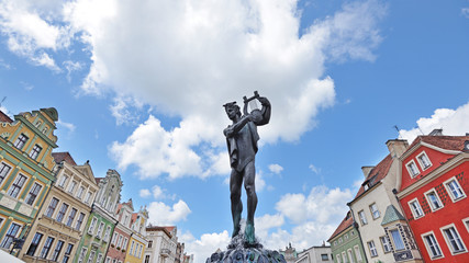 Fountain of Apollo. Market square, Poznan, Poland