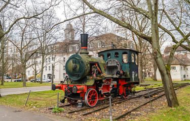 Monument of steam locomotive in KIT