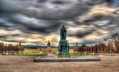 Monument of Karl Friedrich von Baden and Karlsruhe Palace