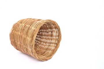 Rattan basket fallon the floor