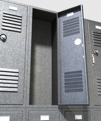 Grey School Lockers Perspective
