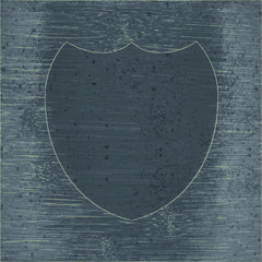 Shield protection. Flat modern web  design