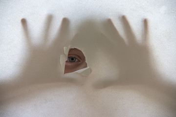 eye and shadows