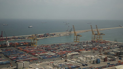 Barcelona Commercial Port container ships